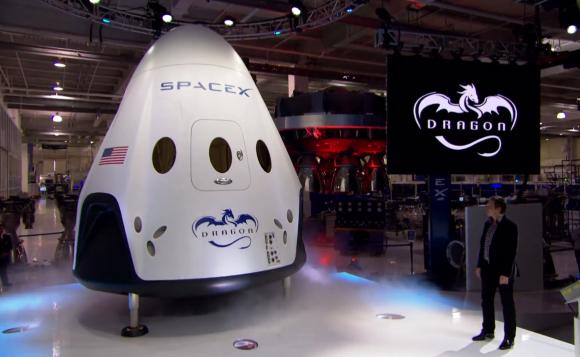 La Dragon 2 presentada en 2014 (SpaceX).