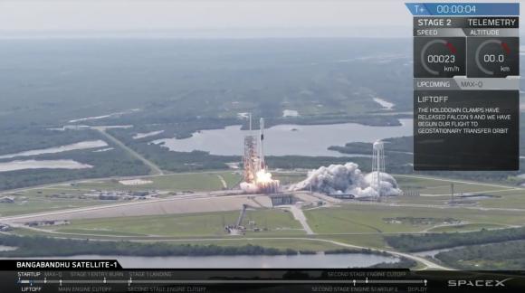 Despegue del primer Falcon 9 Block 5 (SpaceX).