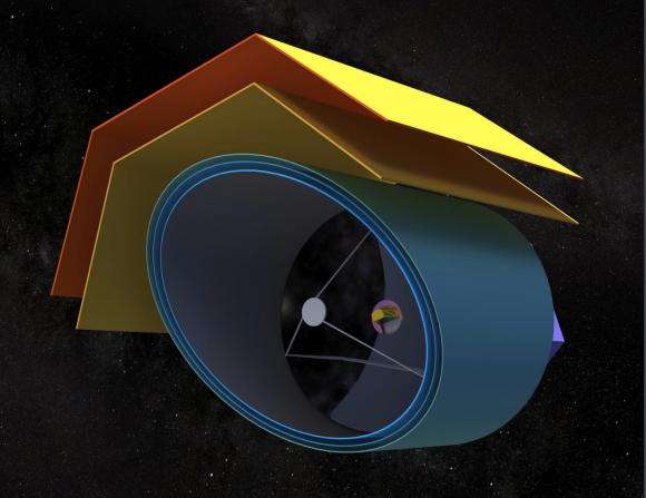 Variante de diseño con un espejo monolítico (NASA).