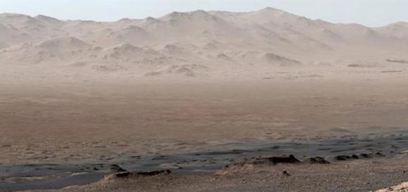 El cráter Gale (NASA/JPL).