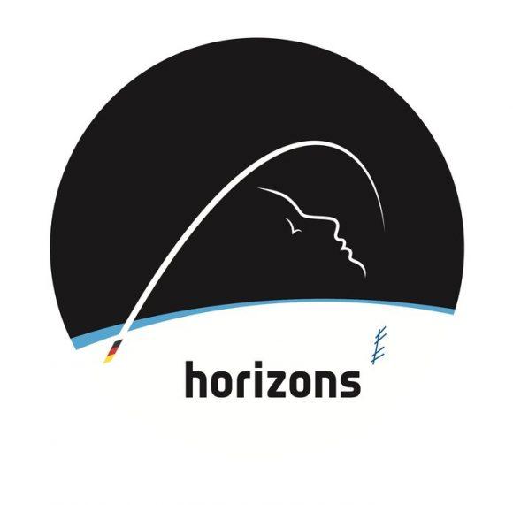 Emblema de la misión Horizons de la ESA (ESA).