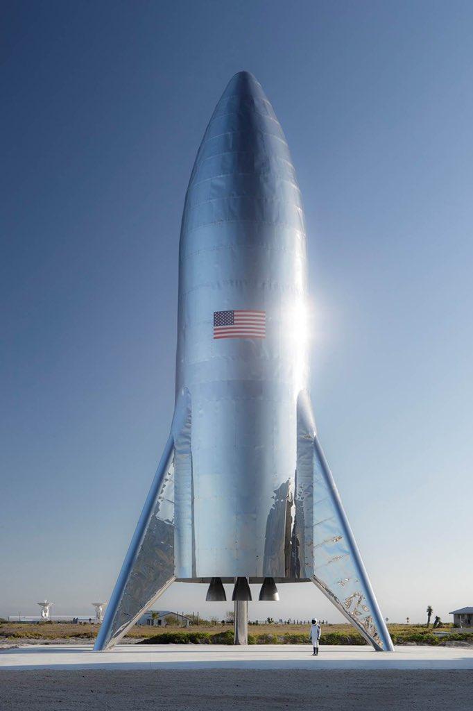 Starhopper de SpaceX: el material del que están hechos los sueños DwmagBZX4AEbUN-