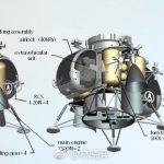 Un módulo lunar tripulado chino de pequeño tamaño
