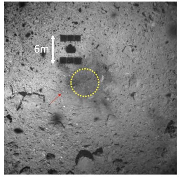 Aterrizando en un asteroide: los detalles de la recogida de muestras de Hayabusa 2