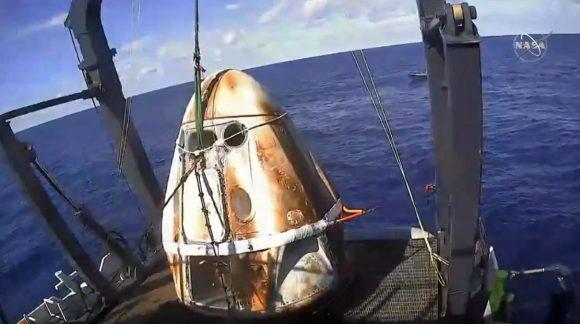 Regreso de la Dragon 2 DM-1 de SpaceX