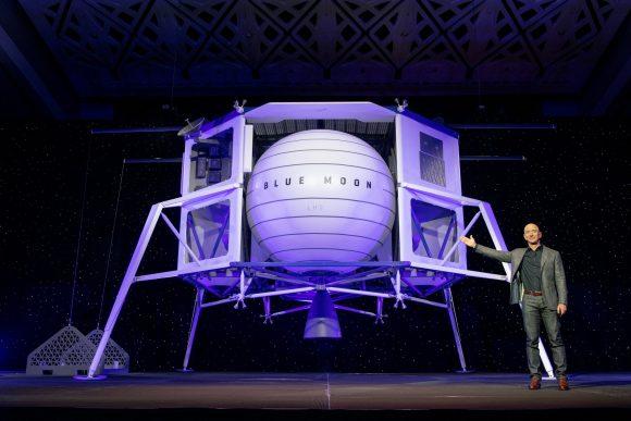 El módulo lunar Blue Moon de Blue Origin