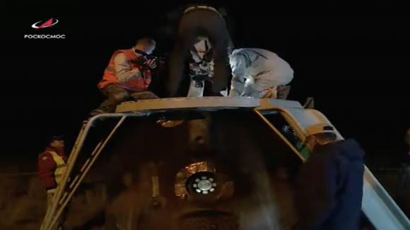 Regreso de la Soyuz MS-14 sin tripulación
