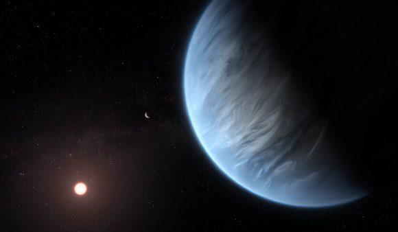 Sobre la presencia de agua en la atmósfera del exoplaneta potencialmente habitable K2-18b