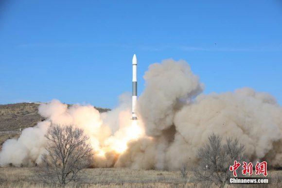 Dos lanzamientos del cohete chino Kuaizhou KZ-1A en un día