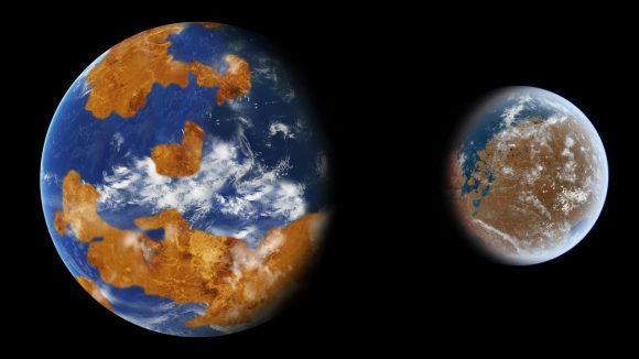 Cuando el sistema solar tuvo tres planetas habitables