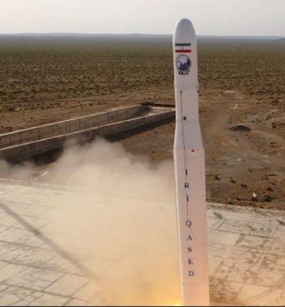 Primer lanzamiento del cohete iraní Qased