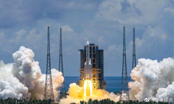 Lanzamiento de la sonda china Tianwen 1 a Marte