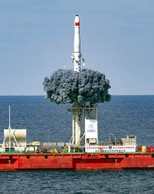 Segundo lanzamiento de un cohete Larga Marcha CZ-11H desde una plataforma marina