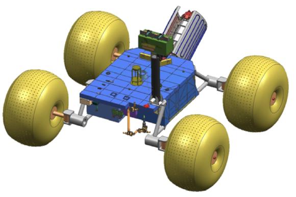 Un rover nuclear de ruedas inflables para estudiar Titán
