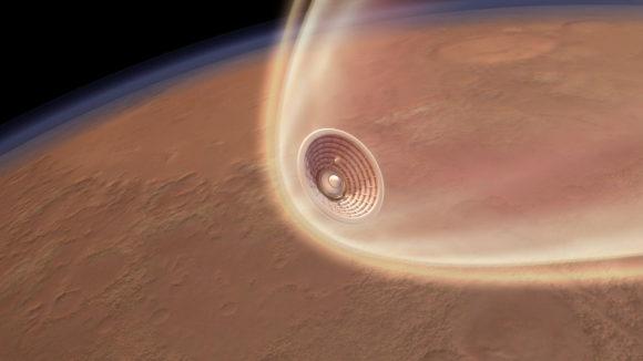 Cómo aterrizaría en Marte una nave tripulada de la NASA