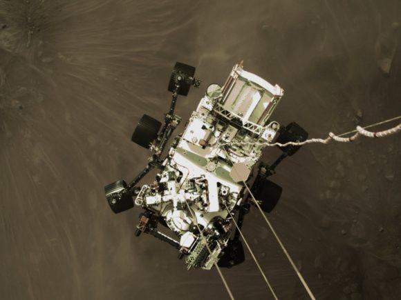 Primeras imágenes de Perseverance en Marte