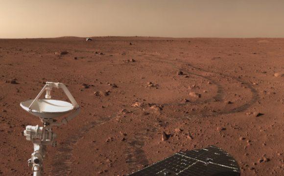 El rover Zhurong continúa su viaje hacia el sur en Utopia Planitia
