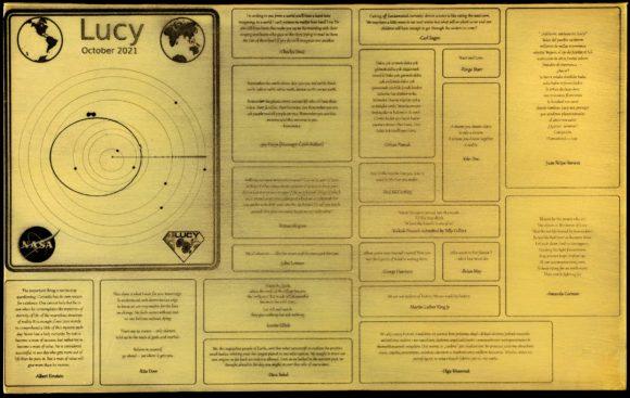 El mensaje al futuro de Lucy que viajará a la órbita de Júpiter