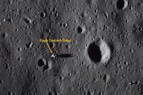El módulo lunar del Apolo 11 visto por la sonda india Chandrayaan 2